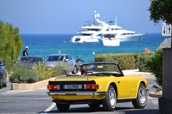 Luxury cars in St Tropez