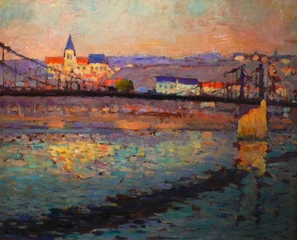 Robert_Antoine_Pinchon,_1904,_Triel_sur_Seine,_le_pont_du_chemin_de_fer,_46_x_55_cm