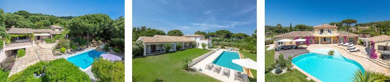 Nos villas à St Tropez
