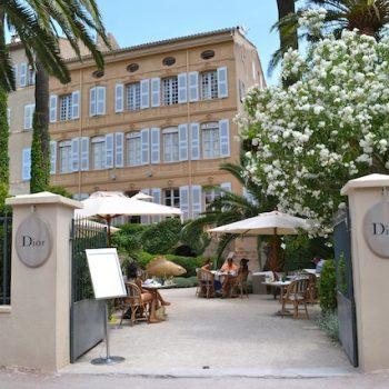 Dior House in St Tropez in 18th century Jardins de L'Ambassade