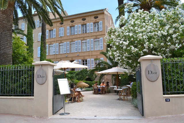 Dior House in St Tropez in 18th century Jardins de L'Ambassade
