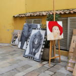 Antique market in St Tropez