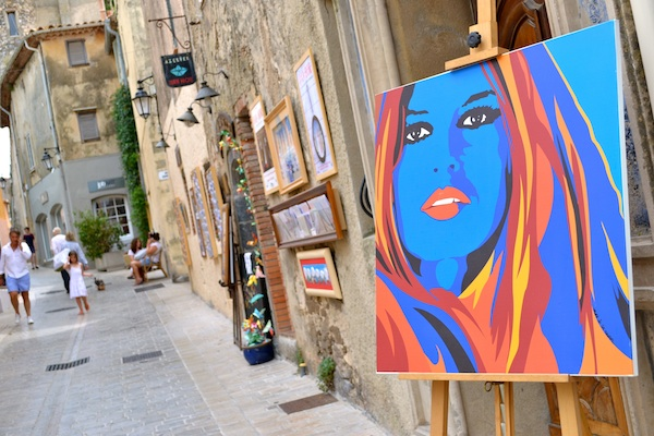 Brigitte Bardot through the eyes of local artist Sasha de Saint Tropez