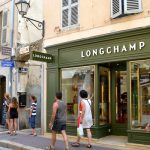 Longchamp luxury shops St Tropez