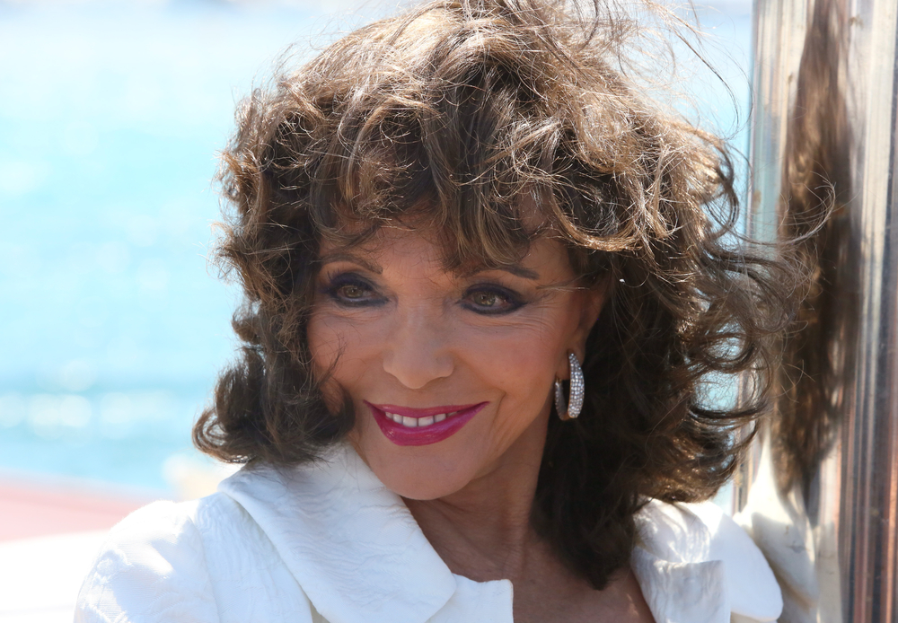 Celebrities in St Tropez - Joan Collins