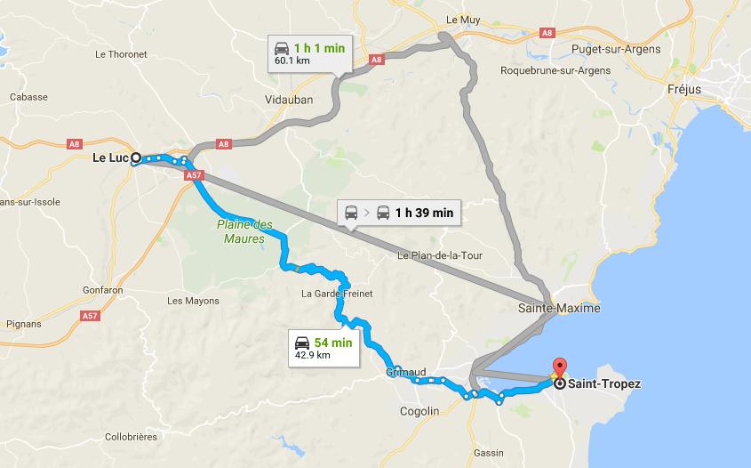 St Tropez Shortcut Le Luc
