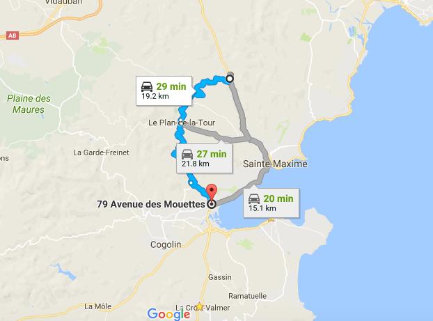 St Tropez Shortcut Plan De La Tour