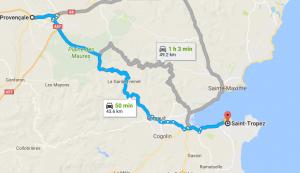 St Tropez Shortcut Aix en provence