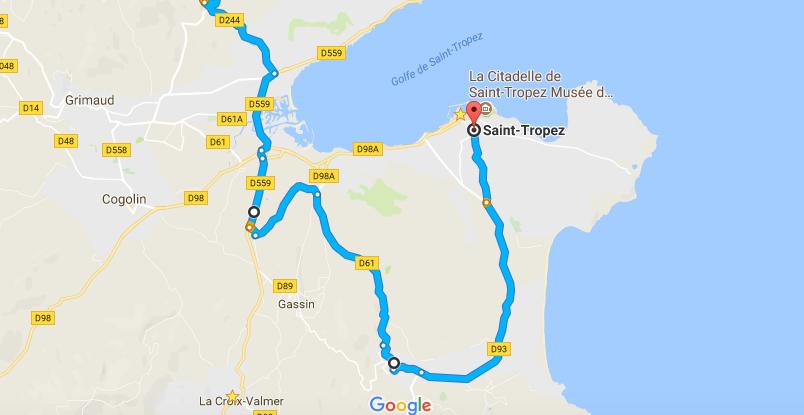 St Tropez Shortcut Le Foux