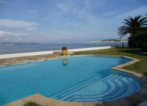 Villa Rosedemai, pictured, is an incredible example of pet-friendly rentals in St. Tropez. Check out its beautiful pool overlooking the Med.