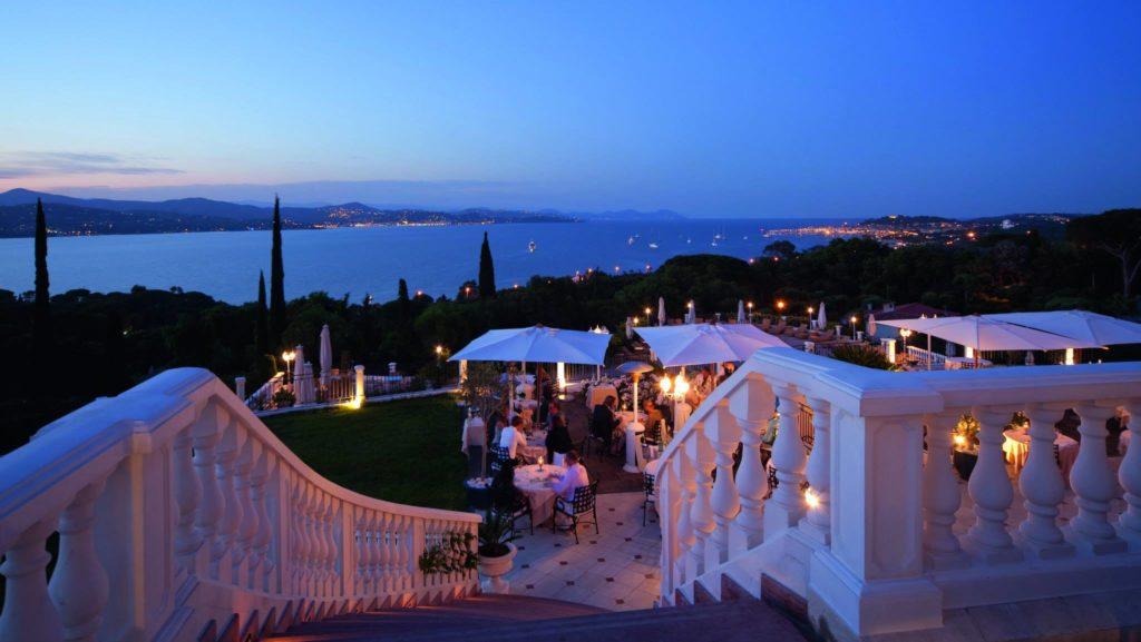 best restaurant terraces in st tropez le belrose althoff villa