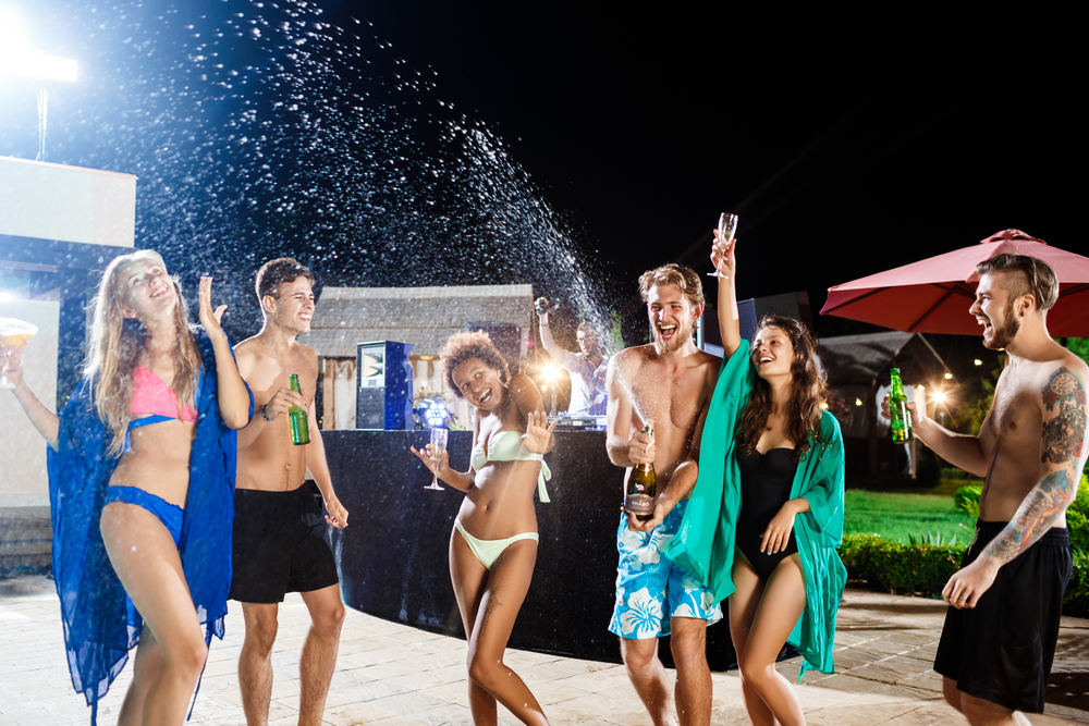 summer parties st tropez the mas des escaravatiers pool party