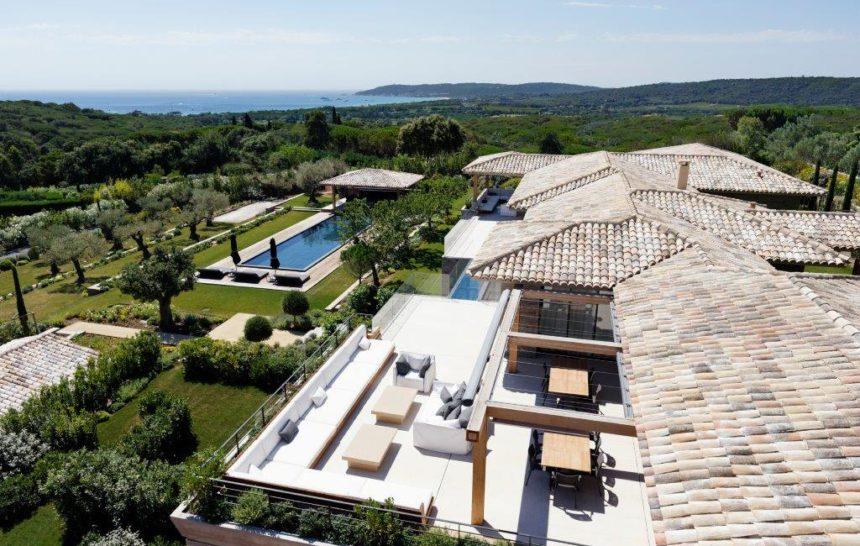 holiday rental villa st tropez tahiti villa bellazard drone shot