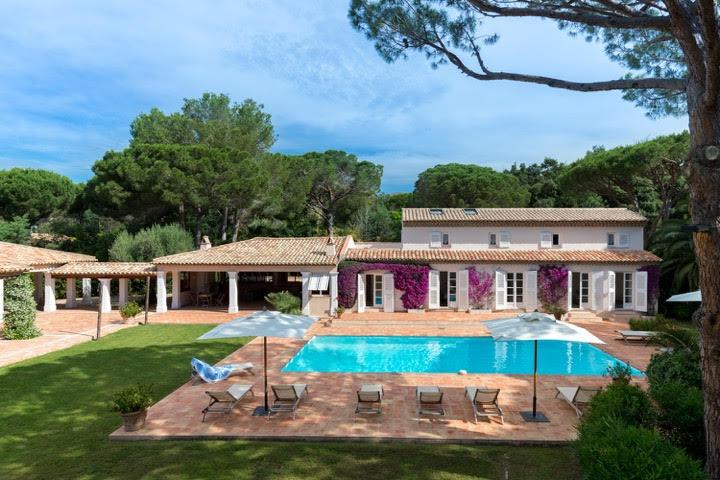 holiday rental villa st tropez tahiti villa tabou pool