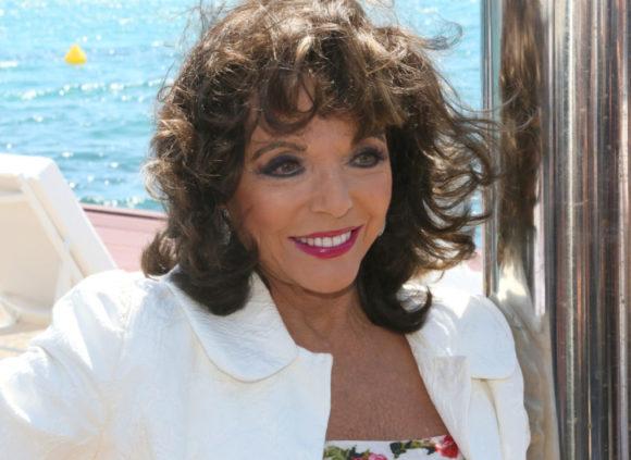 Dame Joan Collins celebrities in st tropez