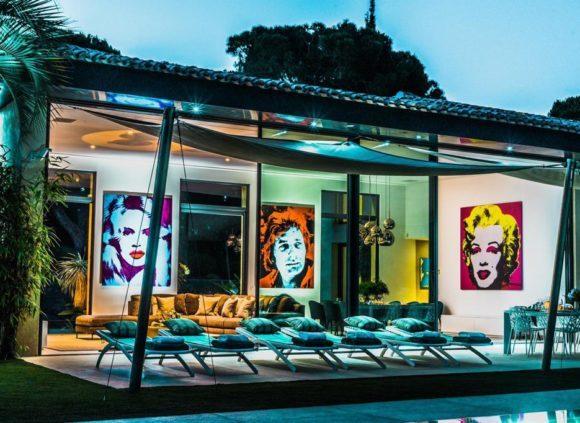 rent villa marylin in chemin de i'epi near pampelonne beach st tropez