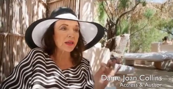 Joan Collins featured on Playgrounds of the Rich and Famous