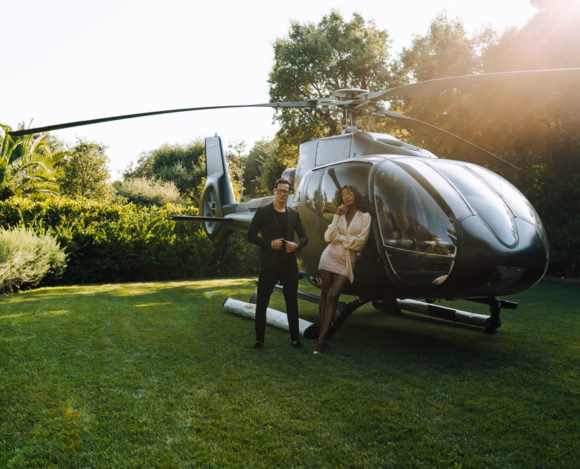Arrive in St Tropez in style by helicopter