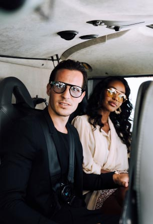 Tom Claeren traveling to St Tropez by helicopter